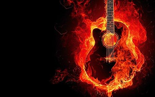 canvas-andbild-electric-guitar-flame-fire-hell-heavy-metal-punk-rock-hotel-pub-bar-cafe-uni-club-lbw