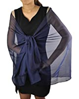 Semi Opaque See-through Plain bride & Bridesmaids Wedding Shawl - Luxurious Soft Feel Chiffon Scarf Perfect For Evening Party Wrap / Scarves - 100% QUALITY GUARANTEE