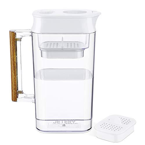 JETERY Wasserfilter Wasserfilterkanne Krug Langlebige, patentierte ACF-Filtration für gesundheitsverträgliches Wasser 150 Gallonen BPA-frei NSF-zertifiziert
