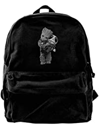b5a0f6b6a5 Canvas Backpack Groot Hugs Jack Skellington Rucksack Gym Hiking Laptop  Shoulder Bag Daypack for Men Women