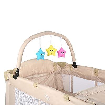 Cuna de viaje plegable con acolchado para bebé ,Cuna de bebé multifuncional, cambiador con bordes, bolsa para guardar hamacas-Diferentes opciones de color