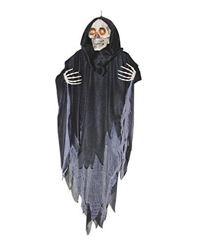 Sprechendes schwarzes Phantom Skelett Hanging Reaper als Halloween Animatronic