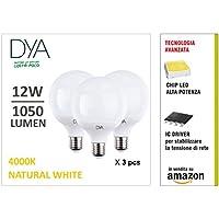 Juego de 3 bombillas LED globo g95 Dya Casquillo E27 ...