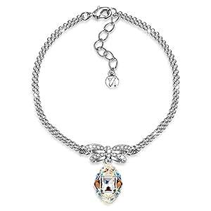 J.NINA Princesse de Monaco Aurore Boreale cristalli Swarovski Bracciale Donna Cuore Gioielli Regalo Compleanno San Valentinoregalo FestaDellaMammaNatale Anniversario Regali MatrimonioMadreFiglia