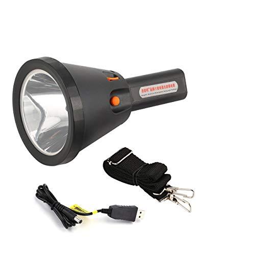 Elviray 60 Torcia elettrica 6000 Lumen Faretto Luminoso 18000 MA Ricaricabile LED Searchlight Tattile Elettrico Torcia elettrica Lampada 2 modalità