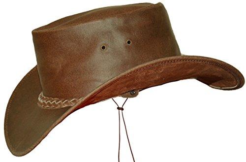 Black Jungle Broome - Cowboyhut aus Rindsleder mit Kinnriemen (XS, Braun)