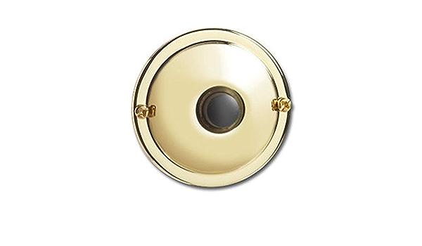 Greenbrook DP080A Bouton de sonnette en laiton avec bouton blanc non /éclair/é