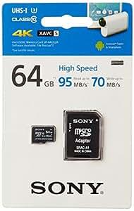 Sony 64GB MicroSD Class 10 UHS-1 High Speed Memory Card 95/70 read/write (SR-64UX2)