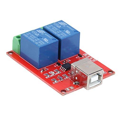Preisvergleich Produktbild prettygood7 USB-Schaltrelais für PC Ersatz-Fernbedienung (5 V, 2 Kanäle)