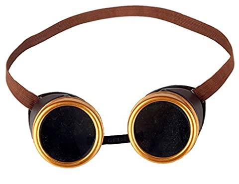ZAIQUN Steampunk Goggles Cyber Welding Goth Cosplay Vintage Goggles Rustic