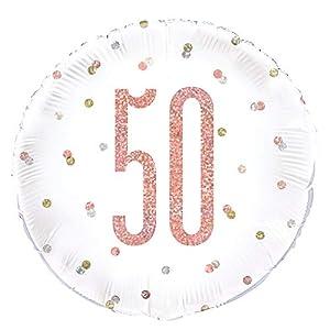 Unique Party 84904 - Globo de papel de aluminio, color oro rosa