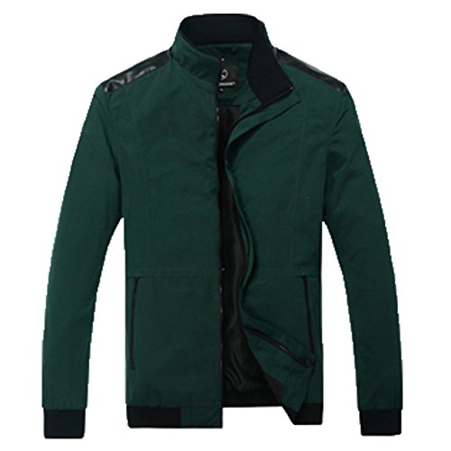 OHmais homme parka manteau d'hiver veste fourré Vert