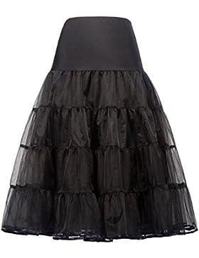 GRACE KARIN Falda de aro de falda interior de enaguas 50s para vestido de novia Rockabilly Dress