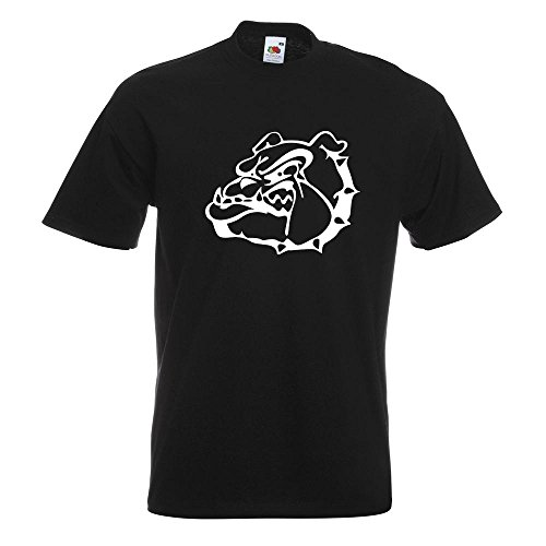 KIWISTAR - Bulldoggen Symbol - Kampfhund T-Shirt in 15 verschiedenen Farben - Herren Funshirt bedruckt Design Sprüche Spruch Motive Oberteil Baumwolle Print Größe S M L XL XXL Schwarz