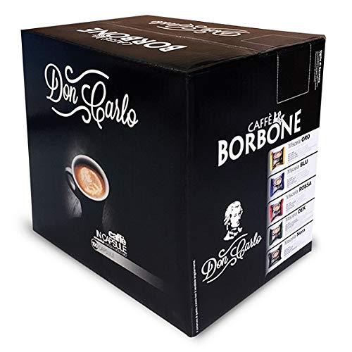 Caffè Borbone Don Carlo Miscela Nera - Confezione da 100 pezzi Capsule - Compatibile Lavazza A Modo Mio®