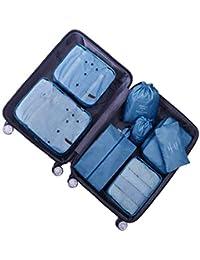Organisateur de Voyage Cube de Voyage Sacs de Rangement 7 Set Système de Cube Voyage Ensemble Complet de différents Sacs Set Voyage - DoGeek