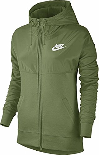Nike Damen Sweatjacke Advance 15 Hoodie Sweatshirt Palm Green/White