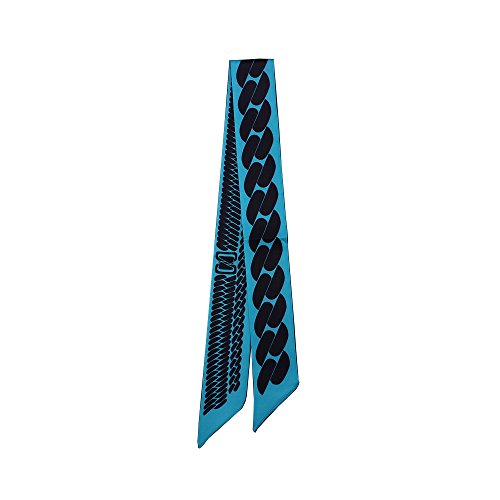 Felix & SiLK Damen Mädchen Kette Reversible Schals Halstücher Stirnbänder Krawatten Twilly Choker Band Gürtel Handarbeit (Stirnband Reversible Große)