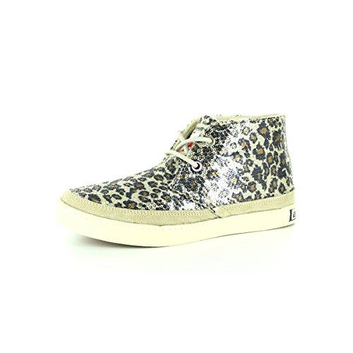 Sneakers Femme Leopard Beige