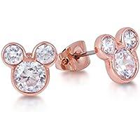Disney Couture Orecchini Topolino placcati in oro rosa.