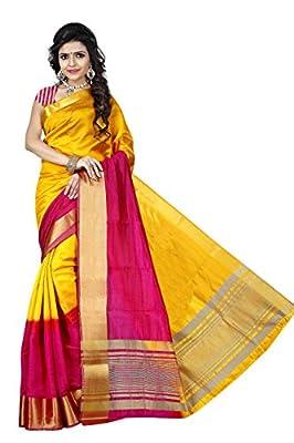 Zaki Sarees Tassar Silk Saree (1047_Gold / Pink)