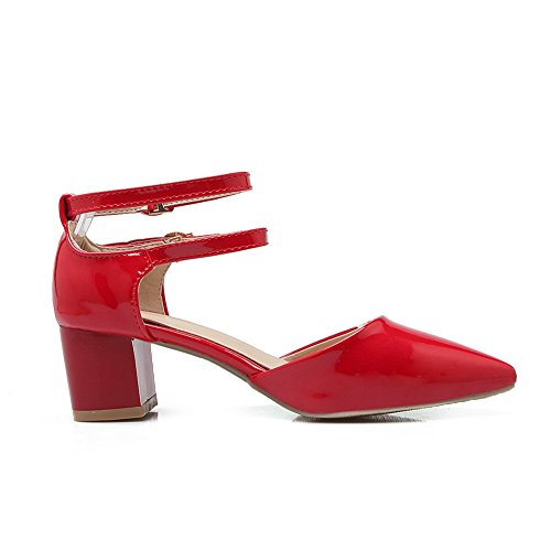 Adee Femme pointed-toe ankle-cuff polyuréthane Sandales Rouge - rouge