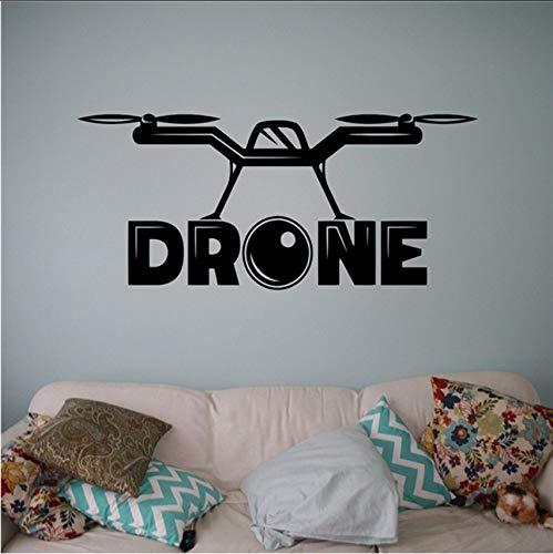 Fushoulu 58X25 Cm Mit Kamera Wand Vinyl Aufkleber Luft Drohne Aufkleber Flugzeug Home Art Decor Ideen Innen Kinderzimmer Design