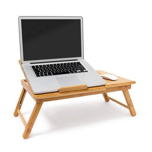 Relaxdays 10019147 - Mesa Plegable para portatil, Bambú, Altura ...