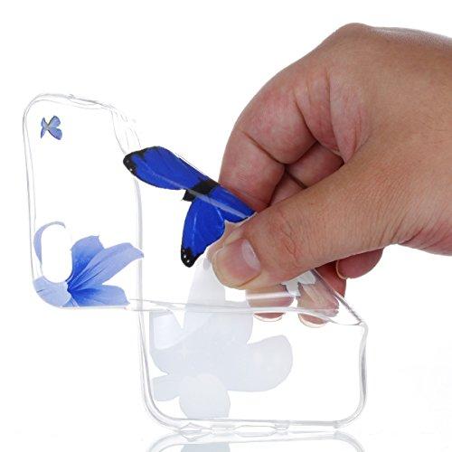 iPhone 6S Hülle, Voguecase Silikon Schutzhülle / Case / Cover / Hülle / TPU + PC Gel Skin für Apple iPhone 6 Plus /6S Plus 5.5(Aquarell Baum 01) + Gratis Universal Eingabestift Blau Blumen/Schmetterling