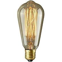 Lightess Ampoules à Incandescence Vintage Rétro Edison 40W E27 220V style Industrielle Ampoule Antique Lampe Décoratif de source de lumière Classe énergétique A pour Restaurant Salon Salle à manger Salle de lecture