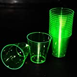 Party Zoom Hard Plastic 2-Ounce Shot/Shooter Glasses, Pack of 30 (Green)