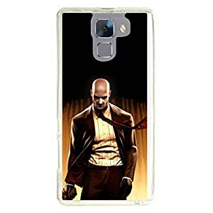 a AND b Designer Printed Mobile Back Cover / Back Case For Huawei Honor 7 (HON_7_1173)