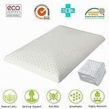 HAIPAI Latex Pillows Foam Anti Snore Deep Sleep Mite Allergic Luxurious Comfort Massage