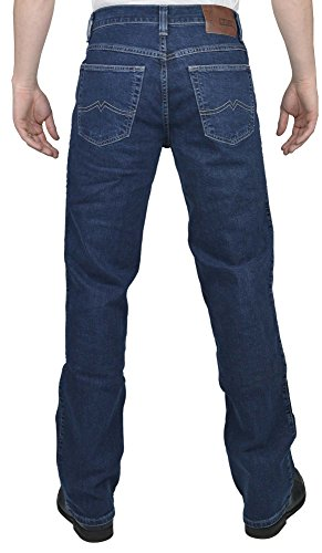 Mustang Big Sur Straight Jeans Old Stone Used Blu