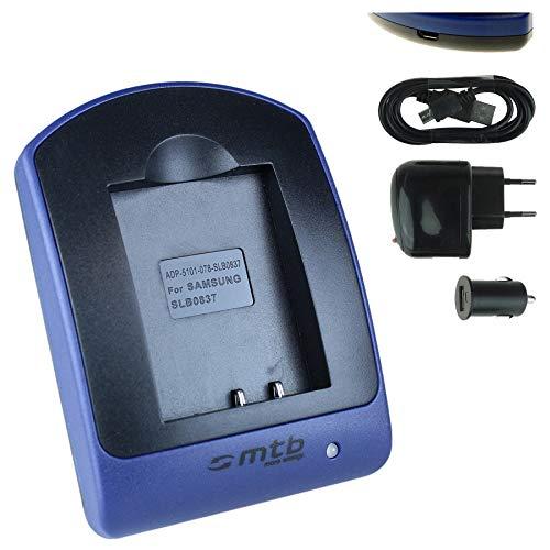 Nv20 Usb (Ladegerät (USB, KFZ, Netz)für Samsung SLB-0837b / L70, L83T, L201, NV8, NV10, NV15, NV20, SL201)