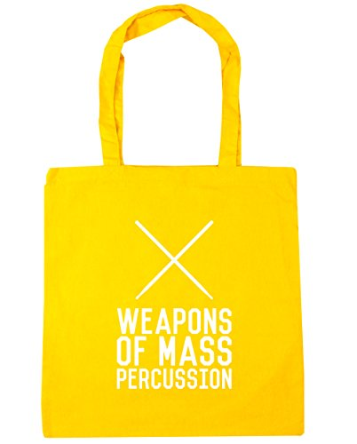 hippowarehouse-weapons-of-mass-percussion-tote-shopping-gym-beach-bag-42cm-x38cm-10-litres