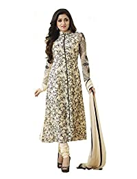 Generic Women's Dress Material(M8018_Off-White_Free Size)
