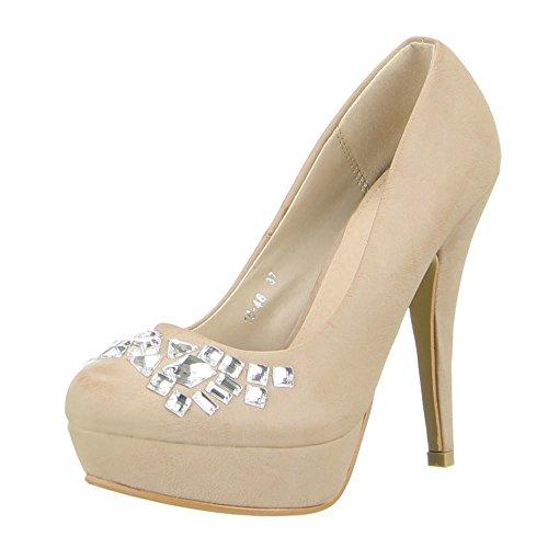 Damen Schuhe, 16-46, PUMPS Khaki