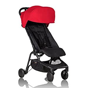 Mountain Buggy Nano V2-5, Ruby Red E D Bambino 👶 Easy to tie with stitching on the front of the wrap to guide you as you keep baby close 👶 Extensive support for baby, ensuring they are sitting in the natural C-spine position, and supporting their legs in the M-position 👶 Super lightweight and breathable, making it perfect to wear during warmer days too 7