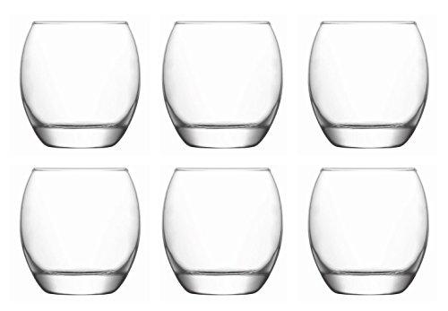 Trinkglas elegante bauchige Form für Whisky und Wasser 350 ml 6 Stück