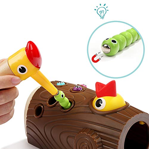 SLONG Boys and Girls 1-3 Years Old Puzzle Children Magnetic Toys Bird Catching Insektenspiele Intellectual Development Early Education