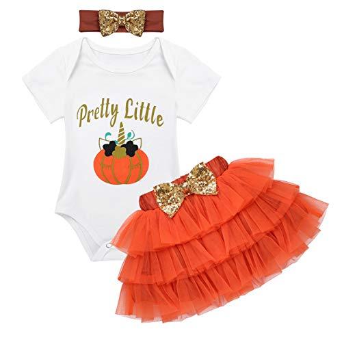 iiniim 3tlg.Baby Kostüm Halloween Verkleidung Strampler+Tüllrock+Stirnband Bekleidungsset Outfit -