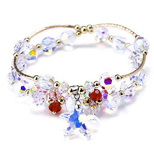 ZSML Österreichisches Sefisch-Kristall-Armband Perle, S925 Sterling Silber Plating Rose Gold Women Bangle Armband Geschenkbox