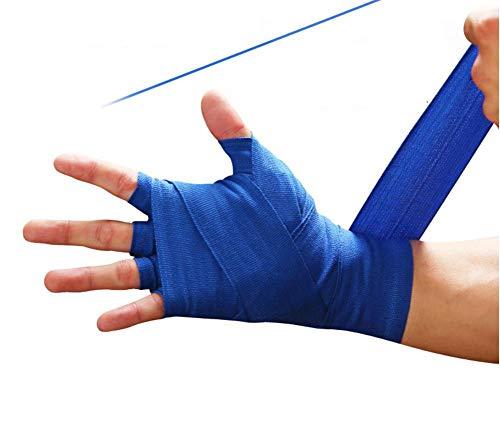 Thai-baumwoll-wrap (AMhuui Baumwolle Muay Thai Boxing Bandage, Hand Wraps elastische elastische professionelle Baumwolle Handwraps in voller Länge saugfähige gebundene Hände (3 Stück))