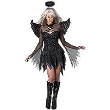 iShine Disfraz Halloween Adulto de Angel Vestidos Cortos para Dama