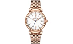 GRANTON Reloj de pulsera mujer COLLECTION IMPERIAL Reloj de pulsera Quartz Suiza analogico acero 36mm or rosa