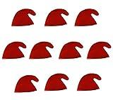 Scherzwelt 10 Zwergenmützen in rot für Erwachsene - Zwergen Hut Mützen rote Gnommützen