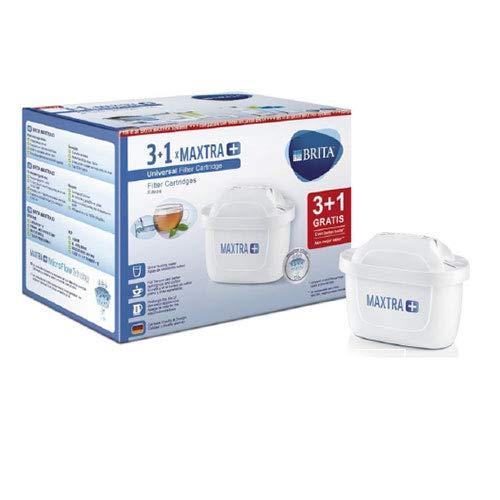 Brita MAXTRA+ Pack 3+1 Cartuchos Filtrado Agua, Recambios