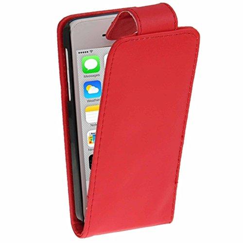 Wkae Case & Cover un étui avec carte de crédit (horaires pour iphone 5 quater ( Color : Green ) Red