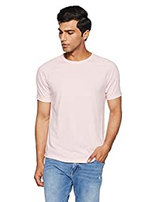 512d068fa GAP Men's Solid Regular Fit T-Shirt (18646723203_Pink Heather B0423_Medium)